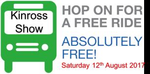 Kinross Show Free Bus