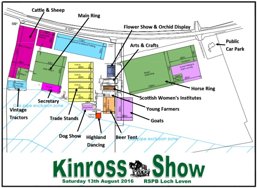 Kinross Show Site Map