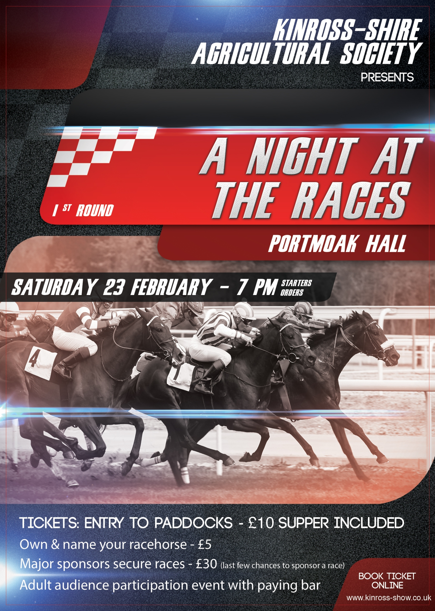 kinross show race night
